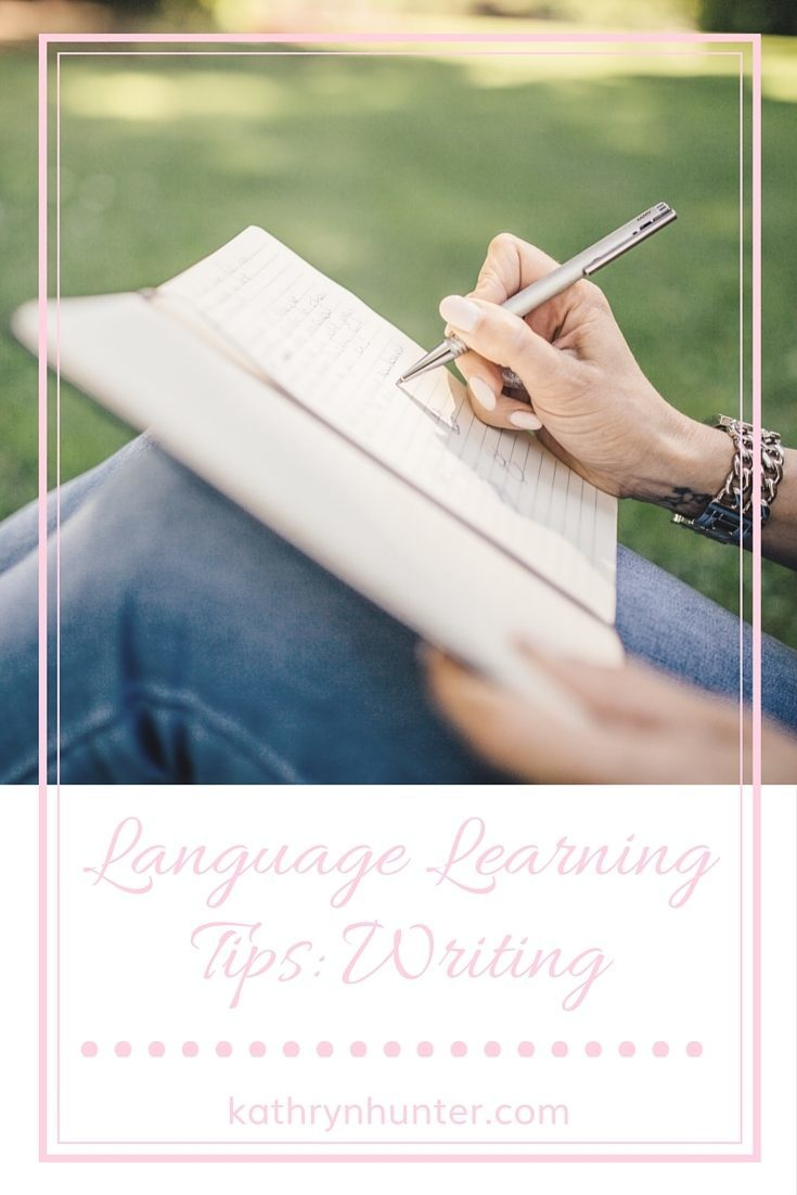 Language Learning Tips: Writing