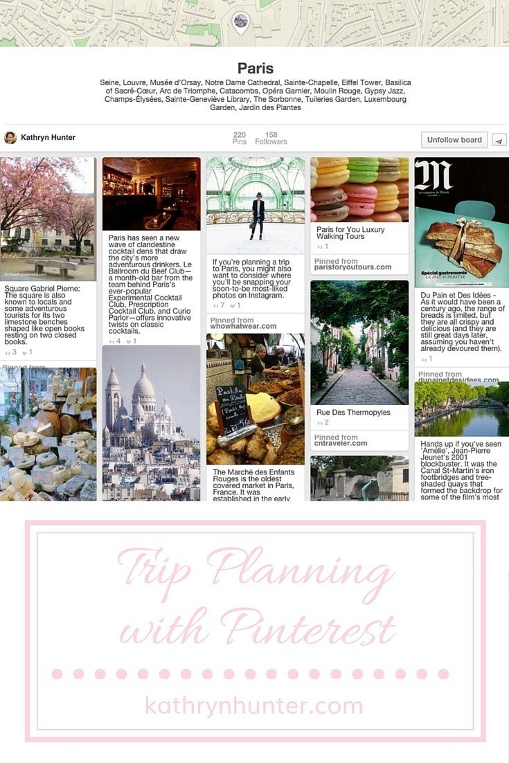 Trip Planning with Pinterest